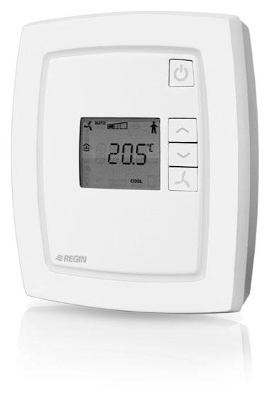 RCF-230D is a thermostat for controlling heating and/or cooling in a room via on/off outputs. It also has a function for three-speed fan control (for fan-coil).