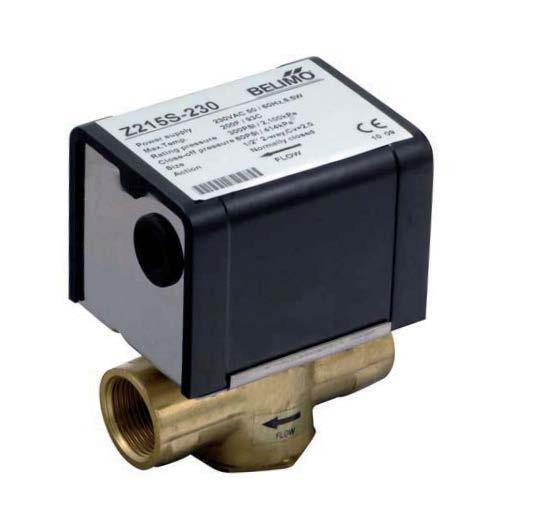 Z..S Series 2 or 3 Way Motorized Fan coil Valves